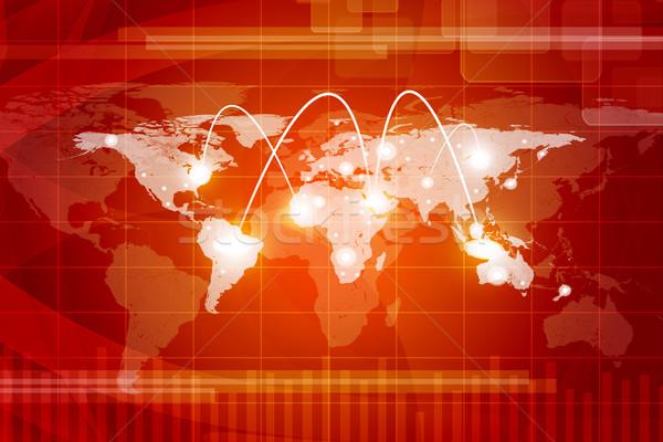 World map with spotlights Stock photo © cherezoff