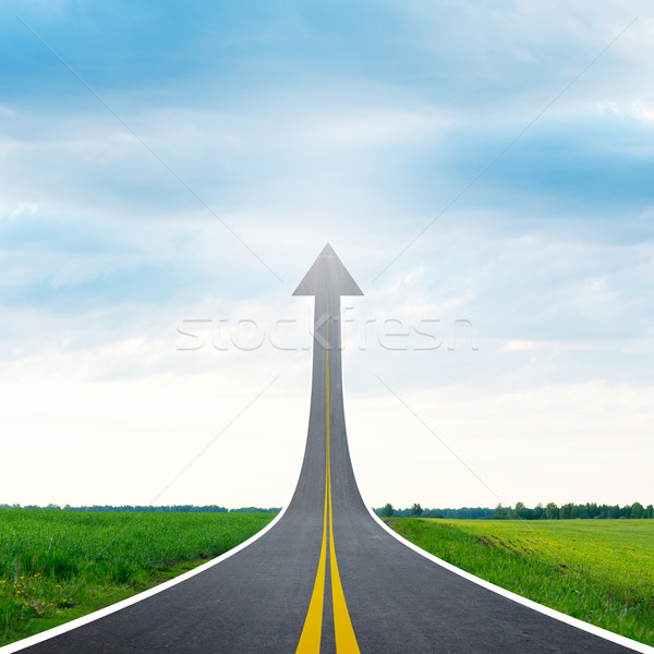 Roadway going up as an arrow Stock photo © cherezoff