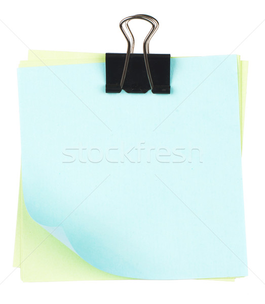 Clip and colorful notes Stock photo © cherezoff