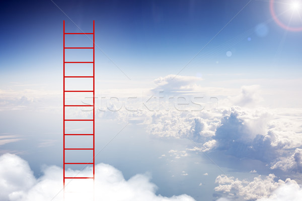 Ladder in sky Stock photo © cherezoff