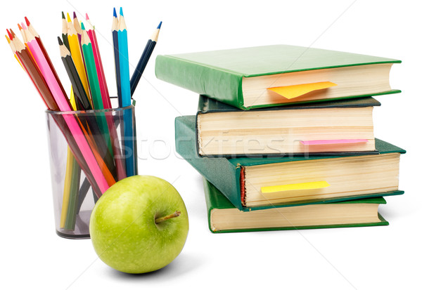 Books with crayons Stock photo © cherezoff