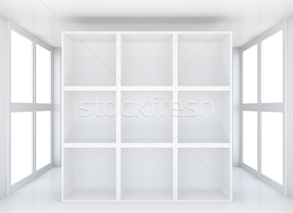 Stand for exhibit in white interior Stock photo © cherezoff