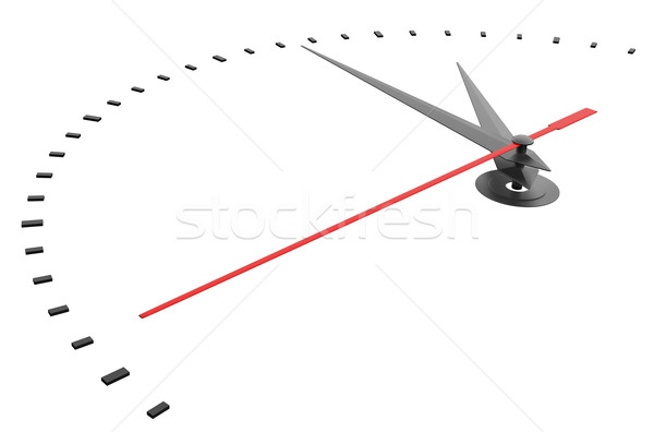 Zegar numery odizolowany 3d ilustracji czasu czarny Zdjęcia stock © cherezoff