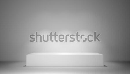 свет 3d иллюстрации выставка комнату аннотация дизайна Сток-фото © cherezoff