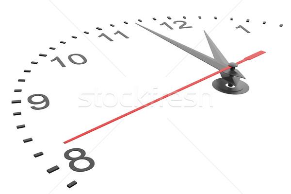 Foto stock: Mãos · isolado · ilustração · 3d · relógio