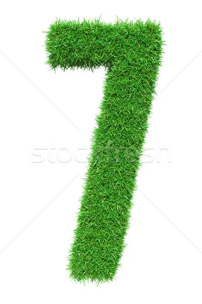 Green grass number 7 Stock photo © cherezoff
