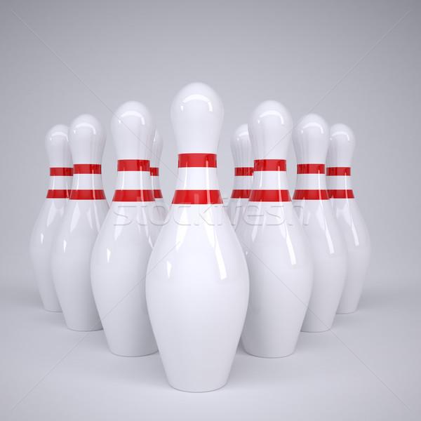 Bowling alleys Stock photo © cherezoff