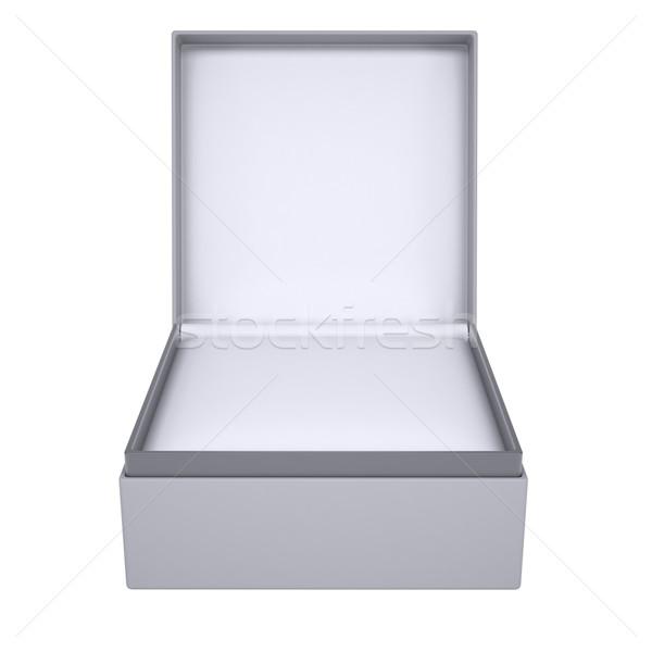 Stok fotoğraf: Açmak · hediye · kutusu · 3d · render · yalıtılmış · beyaz · doğum · günü