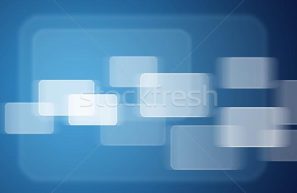 Transparant Blauw technologie achtergrond Stockfoto © cherezoff