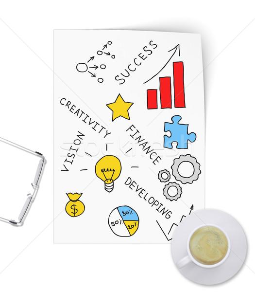 инновационный бизнеса проект лист бумаги Сток-фото © cherezoff