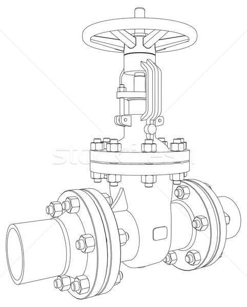 rendering stock vectors illustrations and cliparts stockfresh Industrial Valve Wrenches industrial valve vector rendering of 3d stock photo cherezoff