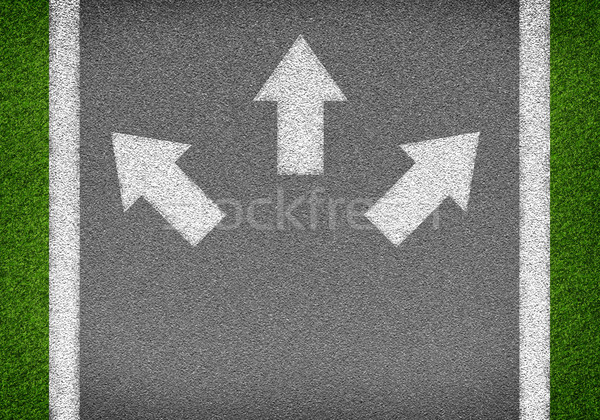 Asfalt drogowego tekstury biały linie Zdjęcia stock © cherezoff