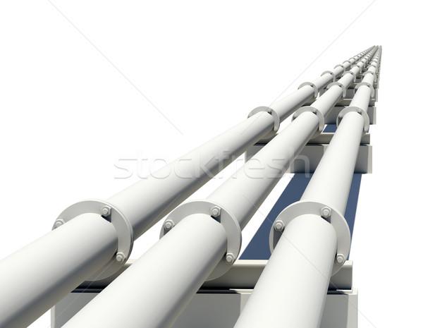 Három ipari csövek nyújtás távolság izolált Stock fotó © cherezoff