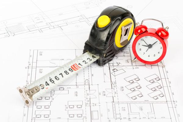 рулетка красный будильник мнение часы Сток-фото © cherezoff