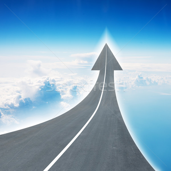 Highway road going up as an arrow in air Stock photo © cherezoff