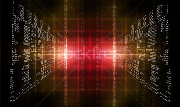 Binary red computer code Stock photo © cherezoff