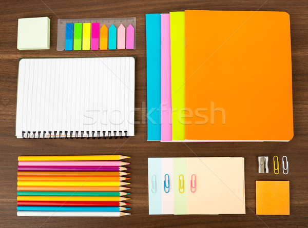 Notebooks with stationary Stock photo © cherezoff