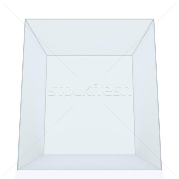 Empty Glass Cube isolated Stock photo © cherezoff