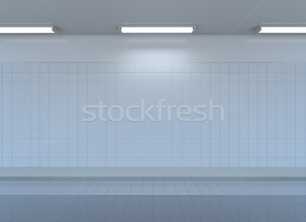 Empty metro station interior Stock photo © cherezoff