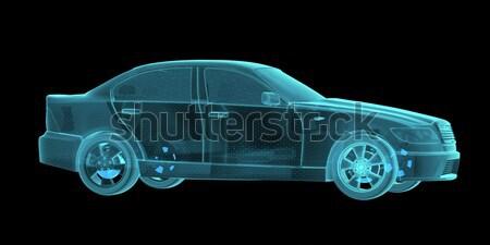 автомобилей голограмма Черно-белые 3D черный Сток-фото © cherezoff