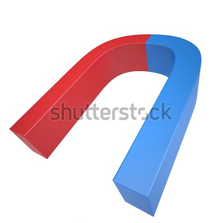 Blue and red magnet Stock photo © cherezoff
