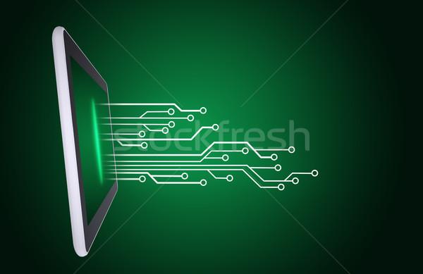 Linha fora tecnologia abstrato educação Foto stock © cherezoff