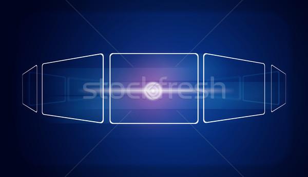 Glow circles and blue rectangles Stock photo © cherezoff
