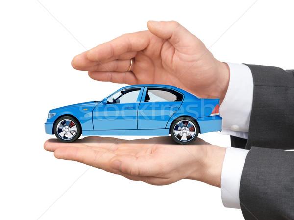 Car in hands Stock photo © cherezoff