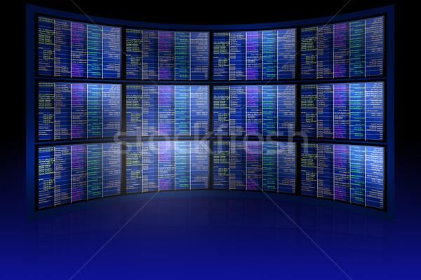 Conjunto matriz abstrato azul tecnologia computador Foto stock © cherezoff