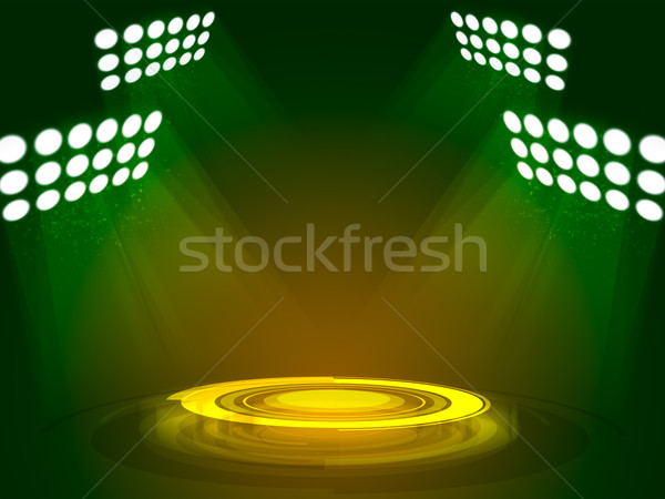 технологий подиум аннотация свет фон Сток-фото © cherezoff