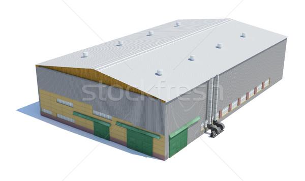 Hangar building. Isolated on white Stock photo © cherezoff