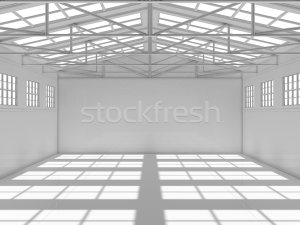 Large modern storehouse with windows Stock photo © cherezoff