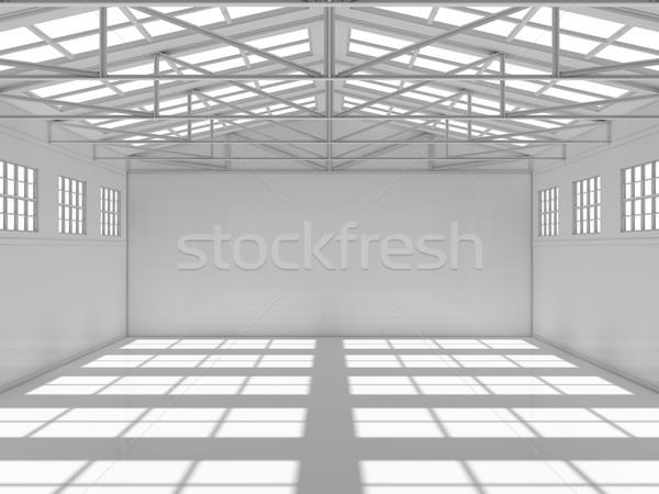 Large modern storehouse with windows Stock photo © cherezoff