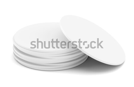 Empty white beer coaster Stock photo © cherezoff