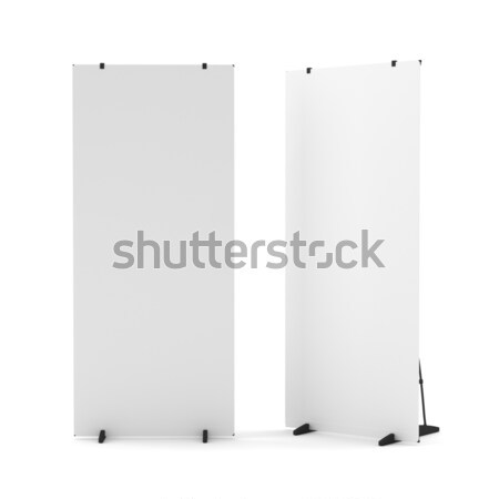 Blank Roll Up Banner Stand Stock photo © cherezoff