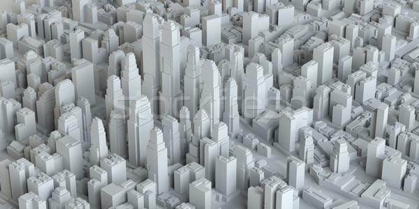 White Business City Buildings Stock photo © cherezoff