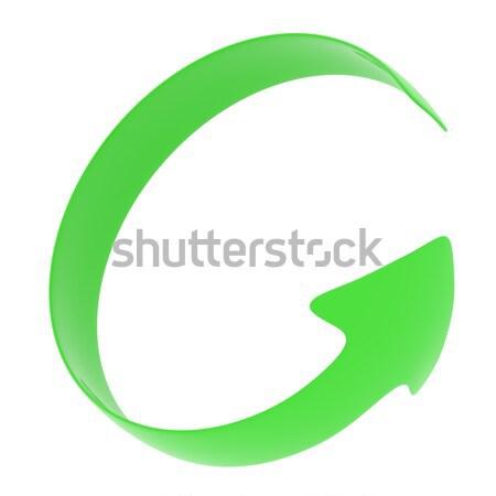 The green arrow is twisted around Stock photo © cherezoff