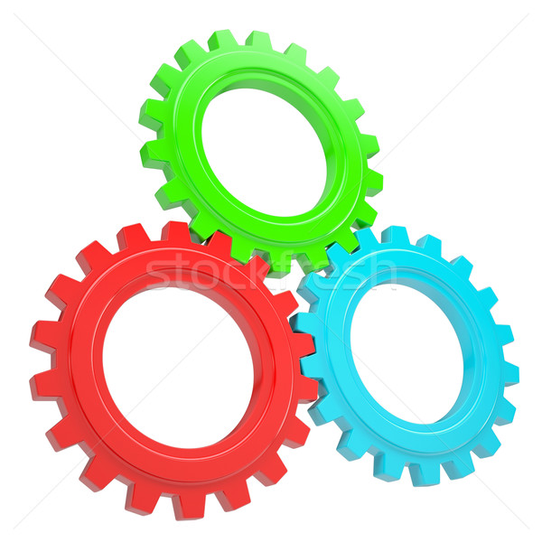Three colorful gears Stock photo © cherezoff