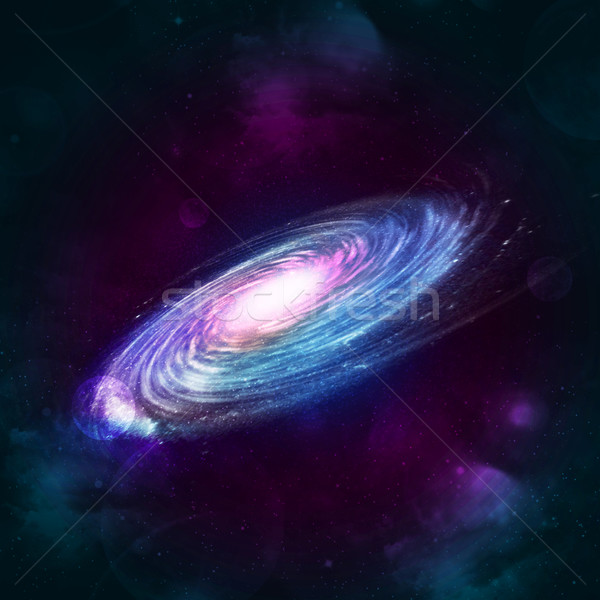 Illustration of a spiral galaxy Stock photo © cherezoff