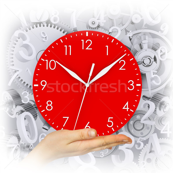 Hand hold clock Stock photo © cherezoff