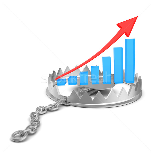 Growth graph in bear trap Stock photo © cherezoff