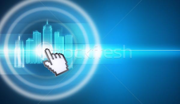 Cursor virtual cidade modelo abstrato verde Foto stock © cherezoff
