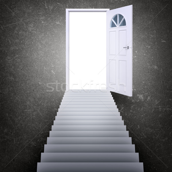 escalier porte porte ouverte lumi re escaliers photo stock kirill cherezov. Black Bedroom Furniture Sets. Home Design Ideas