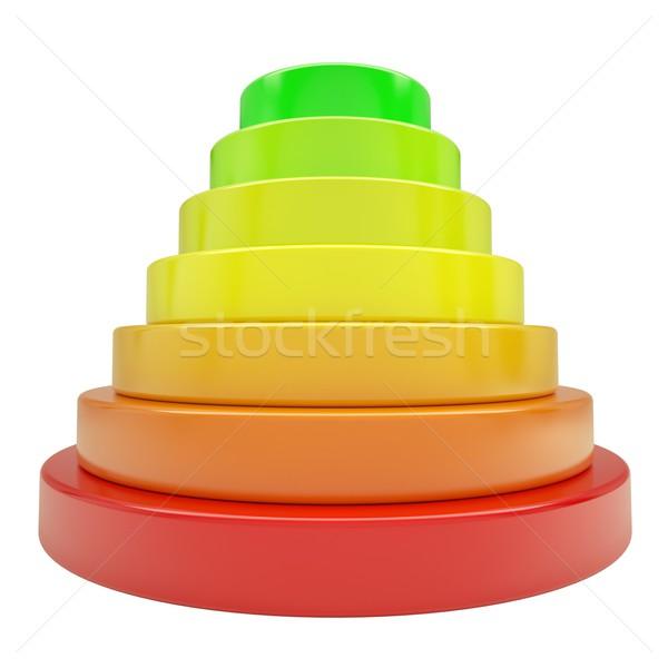 Pyramid of colored discs Stock photo © cherezoff