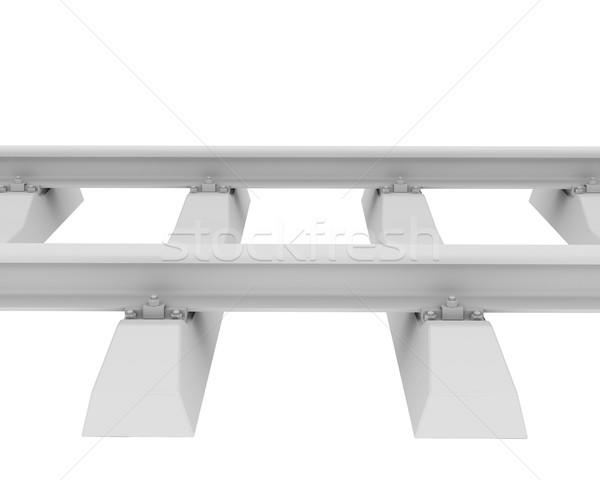 White railroad Stock photo © cherezoff