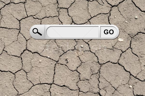 検索 バー ブラウザ ひびの入った 地上 表面 ストックフォト © cherezoff