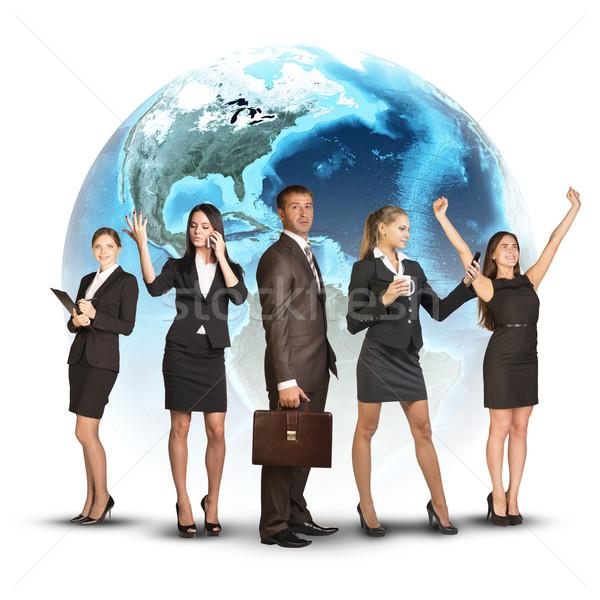 businessmen conquer the world Stock photo © cherezoff