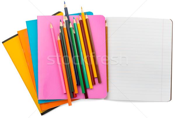 Ayarlamak boya kalemleri yalıtılmış beyaz Stok fotoğraf © cherezoff