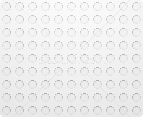 Daire model düzenli beyaz doku 3d illustration Stok fotoğraf © cherezoff
