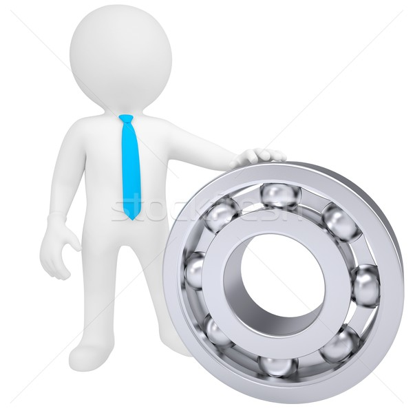 3d white man with the bearing Stock photo © cherezoff
